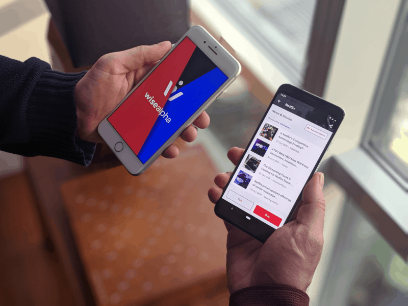 WiseAlpha's mobile app with an integrated CityFALCON Feed